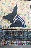 Mural τέχνη σε Soho στο Μανχάταν Στοκ Φωτογραφίες