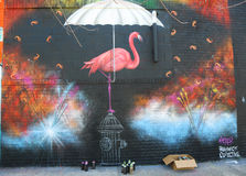 Mural τέχνη στην ανατολή Williamsburg στο Μπρούκλιν Στοκ Εικόνα