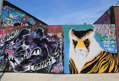 Mural τέχνη στην ανατολή Williamsburg στο Μπρούκλιν Στοκ εικόνα με δικαίωμα ελεύθερης χρήσης