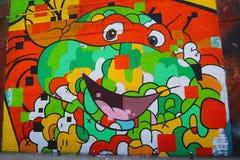 Mural τέχνη στην ανατολή Williamsburg στο Μπρούκλιν Στοκ Φωτογραφίες