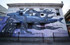 Mural τέχνη στην ανατολή Williamsburg στο Μπρούκλιν Στοκ Εικόνες