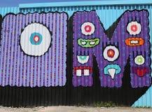 Mural τέχνη στην ανατολή Williamsburg στο Μπρούκλιν Στοκ φωτογραφία με δικαίωμα ελεύθερης χρήσης