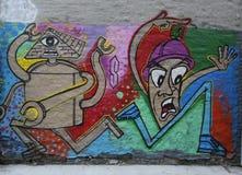 Mural τέχνη στη λεωφόρο του Χιούστον σε Soho Στοκ Φωτογραφία