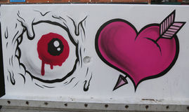 Mural τέχνη στη λεωφόρο του Χιούστον σε Soho Στοκ Εικόνα