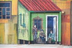 Mural τέχνη στους χώρους Punta, Χιλή Στοκ φωτογραφία με δικαίωμα ελεύθερης χρήσης