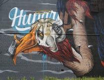 Mural τέχνη στο τμήμα Astoria στις βασίλισσες Στοκ Εικόνα