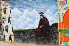 Mural τέχνη στο τμήμα Astoria στις βασίλισσες Στοκ Φωτογραφία