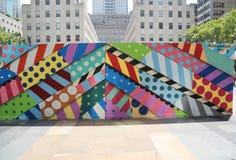 Mural τέχνη στο plaza Rockefeller στην της περιφέρειας του κέντρου Mural τέχνη του Μανχάταν στο plaza Rockefeller στο της περιφέρ Στοκ φωτογραφία με δικαίωμα ελεύθερης χρήσης