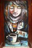 Mural τέχνη την σε λίγη Ιταλία στο Μανχάταν Στοκ Εικόνες