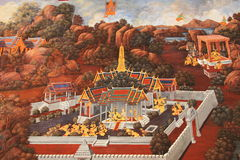 Mural Ταϊλάνδη Στοκ φωτογραφία με δικαίωμα ελεύθερης χρήσης