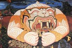 mural Ταϊλανδός Στοκ Εικόνα