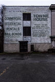 Mural abandonado - Brownsville, Pennsylvania Fotos de archivo libres de regalías