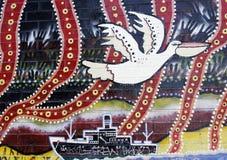 Mural aborigen australiano del arte Imagen de archivo libre de regalías