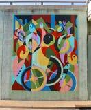 Mural abstracto de los pescados que cautiva en James Road en Memphis, Tennessee Fotografía de archivo