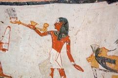 Mural ardiente del sacerdote del incienso Fotos de archivo