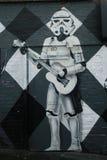 Mural art at AC/DC lane in Melbourne. Stock Image