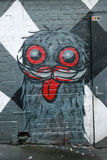Mural art at AC/DC lane in Melbourne. Royalty Free Stock Photography