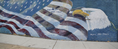 Mural art in Astoria section of Queens Royalty Free Stock Image