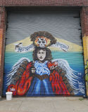 Mural art in Astoria section of Queens Royalty Free Stock Images