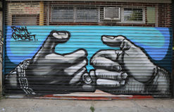 Mural art in Astoria section in Queens Stock Photos
