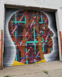 Mural art in Astoria section in Queens Stock Photo