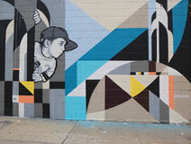 Mural art in Astoria section in Queens Royalty Free Stock Photos