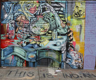 Mural art in Astoria section in Queens Royalty Free Stock Photography