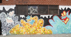Mural art in Astoria section of Queens Royalty Free Stock Photo