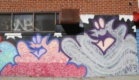 Mural art in Astoria section of Queens Stock Images