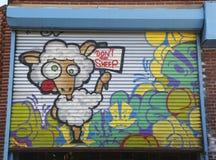 Mural art in Astoria section of Queens Stock Photo