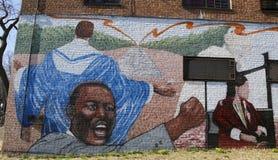 Mural art in Astoria section of Queens Stock Image