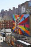 Mural art by Brazilian Mural Artist Eduardo Kobra in Chelsea neighborhood in Manhattan Stock Photography