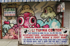 Mural art by Buff Monster in Little Italy Stock Image
