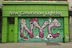 Mural art by Buff Monster in Little Italy Royalty Free Stock Image