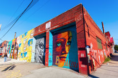 Mural art in Bushwick, Brooklyn, NYC Royalty Free Stock Images