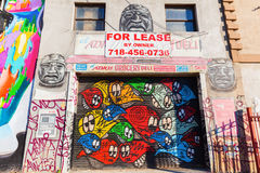 Mural art in Bushwick, Brooklyn, NYC Stock Images