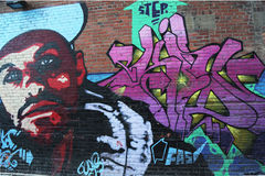 Mural art in Calgary, Alberta Royalty Free Stock Photography