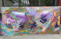 Mural art at Centre-fuge Project in Staten Island, NY Royalty Free Stock Photo