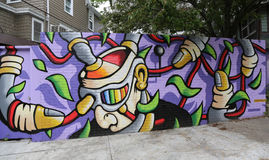 Mural art at Centre-fuge Project in Staten Island, NY Stock Photo