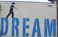 Mural art at East Williamsburg in Brooklyn. Royalty Free Stock Image