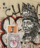 Mural art at East Williamsburg in Brooklyn. Stock Photos