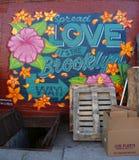 Mural art at East Williamsburg in Brooklyn. Stock Image