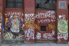 Mural art at East Williamsburg in Brooklyn. Royalty Free Stock Photo