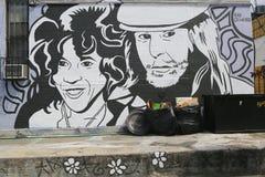 Mural art at East Williamsburg in Brooklyn Royalty Free Stock Images