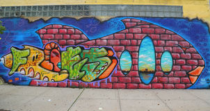 Mural art at East Williamsburg in Brooklyn Stock Photography