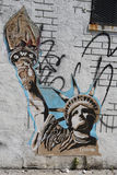 Mural art at East Williamsburg in Brooklyn Stock Photo