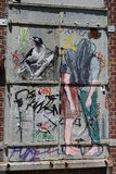 Mural art at East Williamsburg in Brooklyn Royalty Free Stock Photo