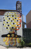 Mural art at East Williamsburg in Brooklyn. Royalty Free Stock Photography