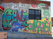 Mural art at East Williamsburg in Brooklyn. Royalty Free Stock Photo