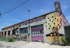 Mural art at East Williamsburg in Brooklyn. Royalty Free Stock Photos